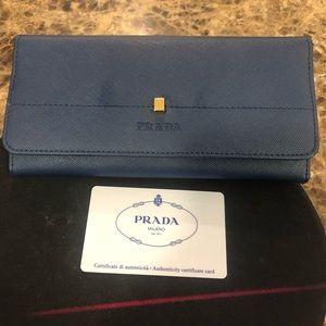 Navy blue Prada Wallet